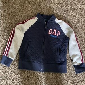 GAP toddler boy quilted sweater size xs 4-5